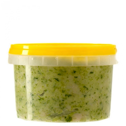 Сало крученое с чесноком и зеленью, 250 гр.